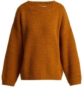 Bottega Veneta Dropped Sleeve Alpaca Wool Blend Sweater - Womens - Orange