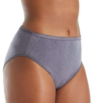 Vanity Fair Women's Plus Size Illumination Hi Cut Panty 13810, Steel Violet