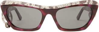 Acne Studios Dielle cat-eye leather and acetate sunglasses