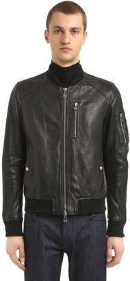 Belstaff Clenshaw Leather Bomber Jacket