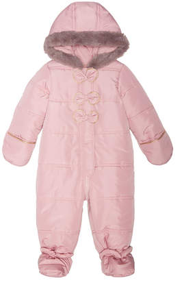 First Impressions Baby Girls Hooded Bows Footed Snowsuit