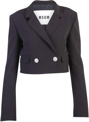 MSGM Black Cropped Jacket