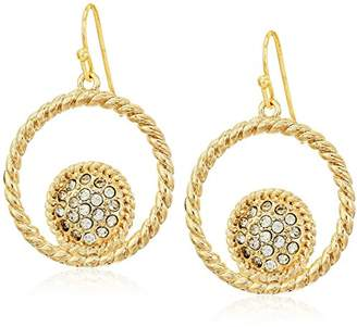 """T Tahari Essentials"""" Cry Rope Text Drop Earrings"""