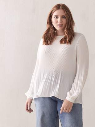 Pleated Long-Sleeve Blouse - Addition Elle