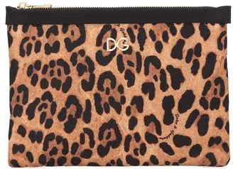 Dolce & Gabbana Leopard-printed nylon pouch