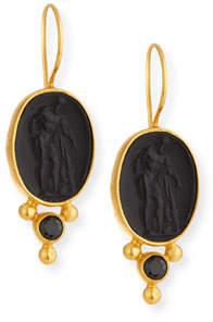 Dina Mackney Italian Glass & Spinel Drop Earrings