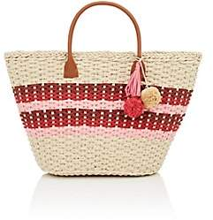 Barneys New York WOMEN'S PROVENCE SMALL STRAW TOTE BAG - RED