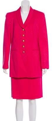 Louis Feraud Virgin Wool Skirt Suit w/ Tags