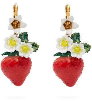 Dolce & Gabbana Strawberry Drop Earrings - Womens - Red