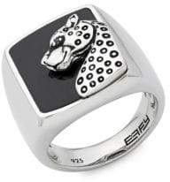 Effy Men's Onyx, Black Spinel and Sterling Silver Ring