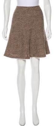 Oscar de la Renta Mini Tweed Skirt Brown Mini Tweed Skirt