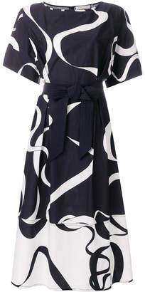 Mantu belted A-line dress