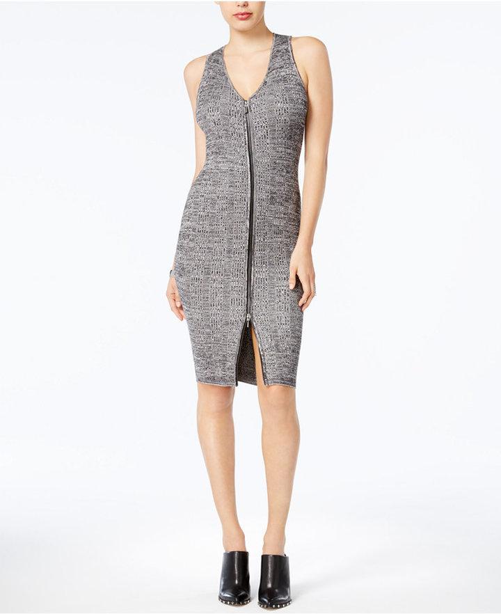 Guess Zip-Front Sweater Dress
