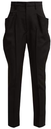 Isabel Marant Raith Jodhpur High Rise Wool Trousers - Womens - Black