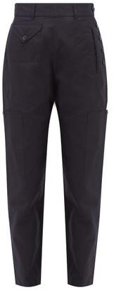 Katharine Hamnett Denise Recycled Cotton Blend Utility Trousers - Womens - Navy