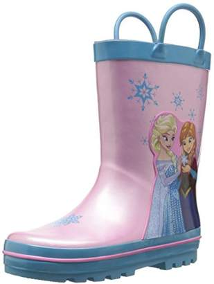 Josmo Character Shoes Girls' Frozen Easy on Loops Rain Boot
