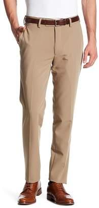 Louis Raphael Slim Fit Solid Flat Front Pants