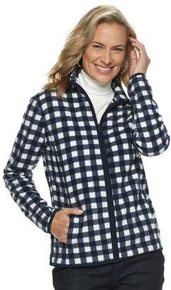 Croft & Barrow Women's Print Fleece Jacket