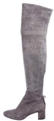 Tory Burch Suede Thigh-High Boots