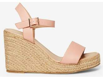 Dorothy Perkins Womens Pink 'Rizzo' Espadrille Wedge Sandals