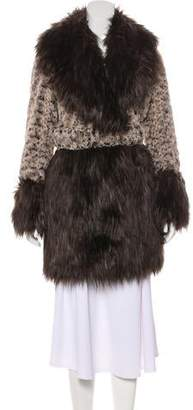 Opening Ceremony Faux Fur Short Coat w/ Tags