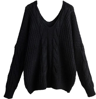 Goodnight Macaroon 'Dylen' Cable Knit V-Neck Sweater (4 Colors)