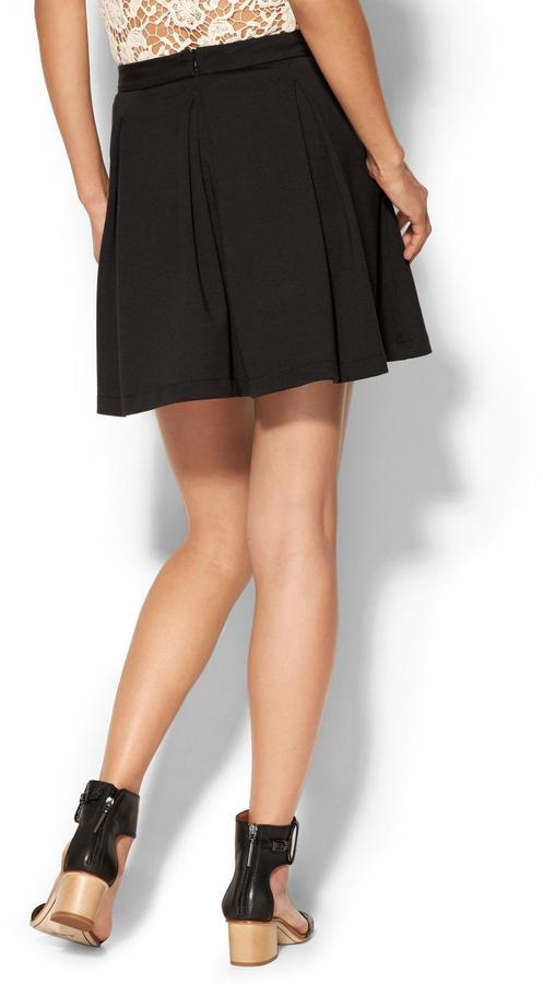 Pim + Larkin Abbey Pleated Mini Skirt