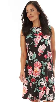 989f9210 Apt. 9 Women's Printed Sleeveless Swing Dress