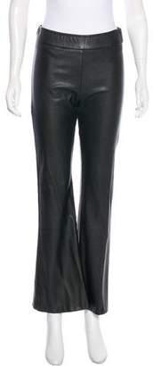 Avenue Montaigne Mid-Rise Faux Leather Pants