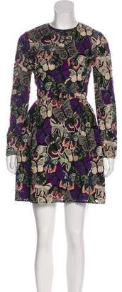 Valentino Butterfly Embroidered Dress
