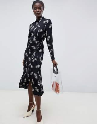 InWear Elena Floral Print Wrap Dress