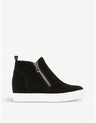 Steve Madden Wedgie suede wedged trainers