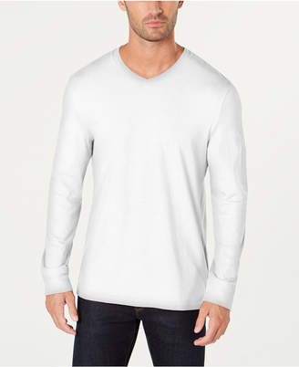 Club Room Men's V-Neck Long Sleeve T-Shirt