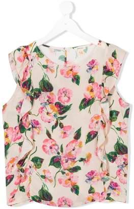Bellerose Kids Teen ruffled floral-print top