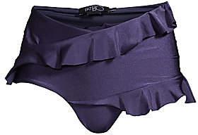 PatBO Women's Ruffle Trim High Waist Bikini Bottom