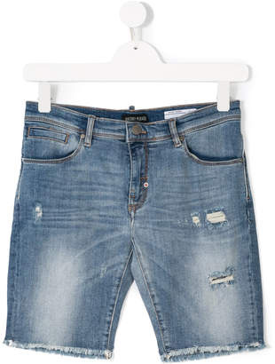 Antony Morato Junior TEEN distressed denim shorts