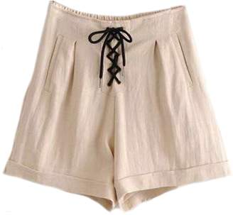 Goodnight Macaroon 'Paulina' Lace-up Shorts (3 Colors)