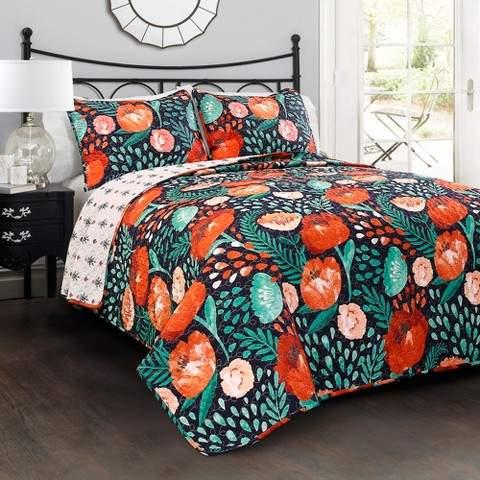 Poppy Garden Quilt Set