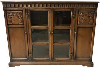 One Kings Lane Vintage Antoque English Oak Bookcase - Von Meyer Ltd.
