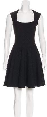 Alaia A-Line Mini Knit Dress