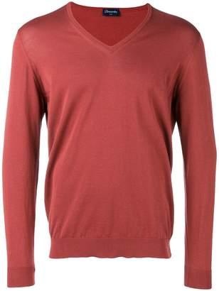 3fadb54274161c Mens Brown Cotton Neck Jumper - ShopStyle UK