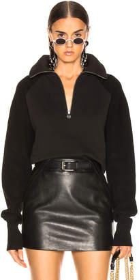 Helmut Lang Combo Zip Sweatshirt in Black | FWRD