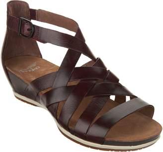 Dansko Leather Multi-strap Wedge Sandals - Vivian