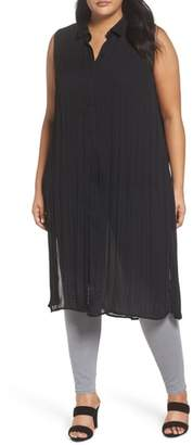 Sejour Sleeveless Duster Shirt
