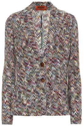 Missoni Single-breasted wool blazer