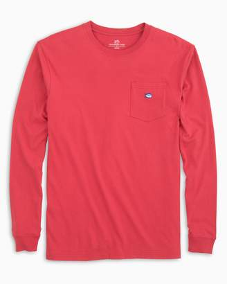DAY Birger et Mikkelsen Southern Tide Long Sleeve Embroidered Pocket T-Shirt