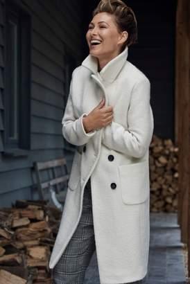 Next Womens White Rever Collar Coat
