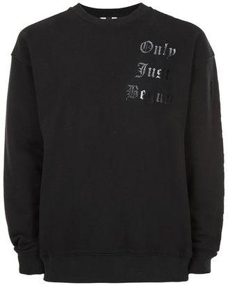 Black Only Just Begun Print Sweatshirt $55 thestylecure.com