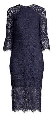 Shoshanna Louisa Lace Midi Dress