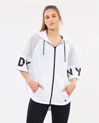 DKNY Zip Up Poncho